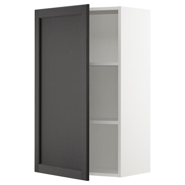 SEKTION Wall cabinet, white/Lerhyttan black stained, 61x37x102 cm