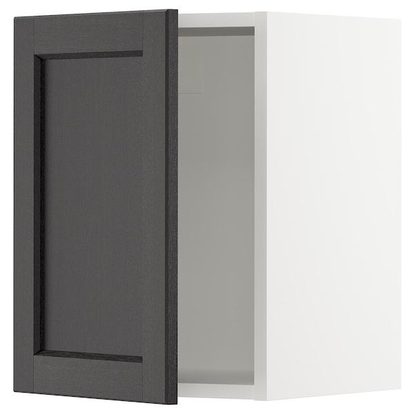 SEKTION Wall cabinet, white/Lerhyttan black stained, 38x37x51 cm