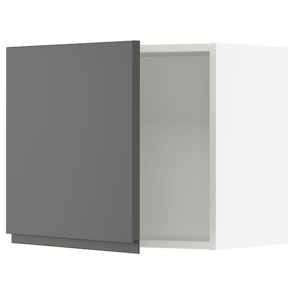SEKTION Wall cabinet, white/Voxtorp dark grey, 61x37x51 cm