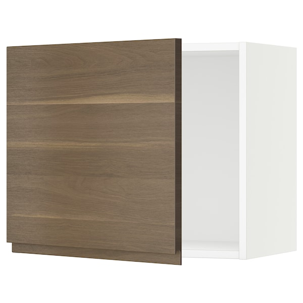 SEKTION Wall cabinet, white/Voxtorp walnut effect, 61x37x51 cm