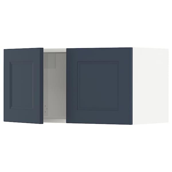 SEKTION Wall cabinet with 2 doors, white Axstad/matt blue, 76x37x38 cm