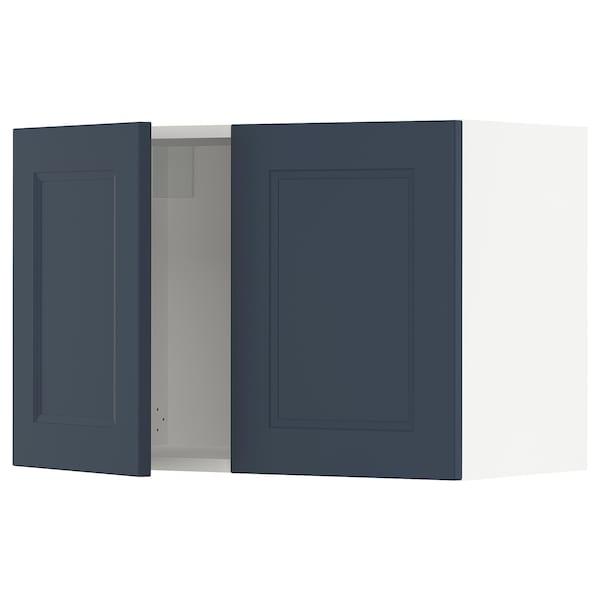 SEKTION Wall cabinet with 2 doors, white Axstad/matt blue, 76x37x51 cm