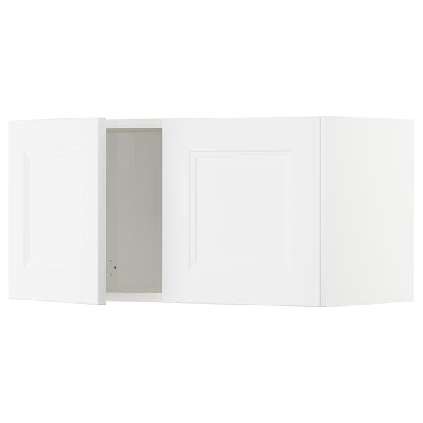 SEKTION Wall cabinet with 2 doors, white/Axstad matt white, 76x37x38 cm
