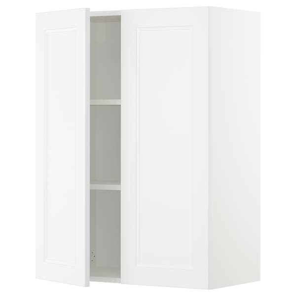SEKTION Wall cabinet with 2 doors, white/Axstad matt white, 76x37x102 cm