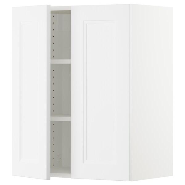 SEKTION Wall cabinet with 2 doors, white/Axstad matt white, 61x37x76 cm