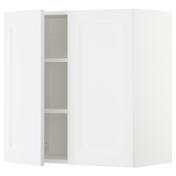 SEKTION Wall cabinet with 2 doors, white/Axstad matt white, 76x37x76 cm