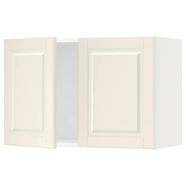 SEKTION Wall cabinet with 2 doors, white/Bodbyn off-white, 76x37x51 cm