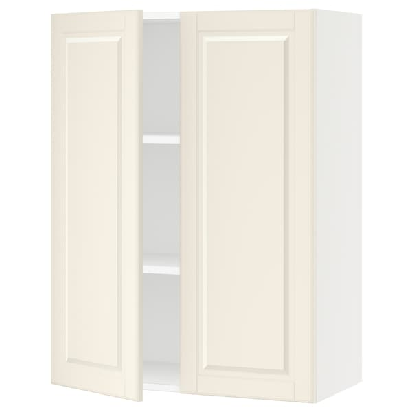SEKTION Wall cabinet with 2 doors, white/Bodbyn off-white, 76x37x102 cm