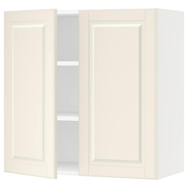 SEKTION Wall cabinet with 2 doors, white/Bodbyn off-white, 76x37x76 cm