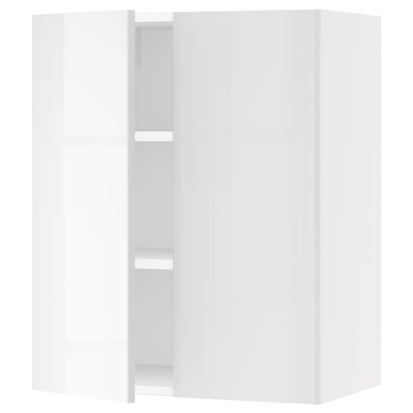 SEKTION Wall cabinet with 2 doors, white/Ringhult white, 61x37x76 cm