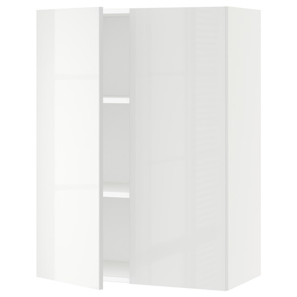 SEKTION Wall cabinet with 2 doors, white/Ringhult white, 76x37x102 cm