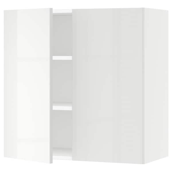 SEKTION Wall cabinet with 2 doors, white/Ringhult white, 76x37x76 cm