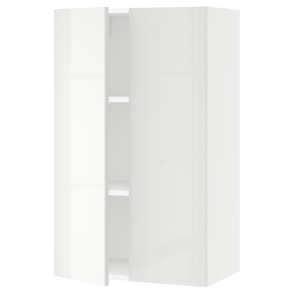 SEKTION Wall cabinet with 2 doors, white/Ringhult white, 61x37x102 cm