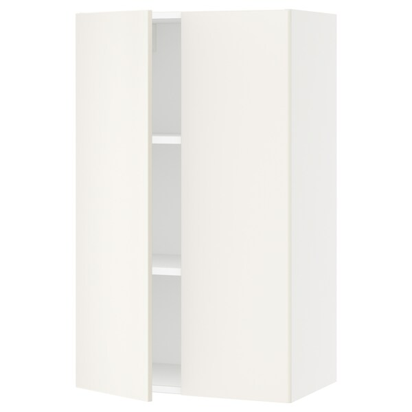 SEKTION Wall cabinet with 2 doors, white/Veddinge white, 61x37x102 cm