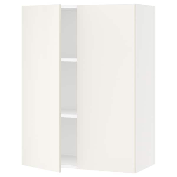 SEKTION Wall cabinet with 2 doors, white/Veddinge white, 76x37x102 cm