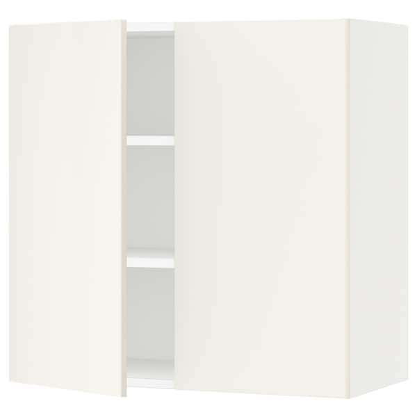 SEKTION Wall cabinet with 2 doors, white/Veddinge white, 76x37x76 cm
