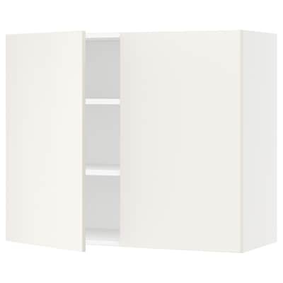 SEKTION Wall cabinet with 2 doors, white/Veddinge white, 91x37x76 cm