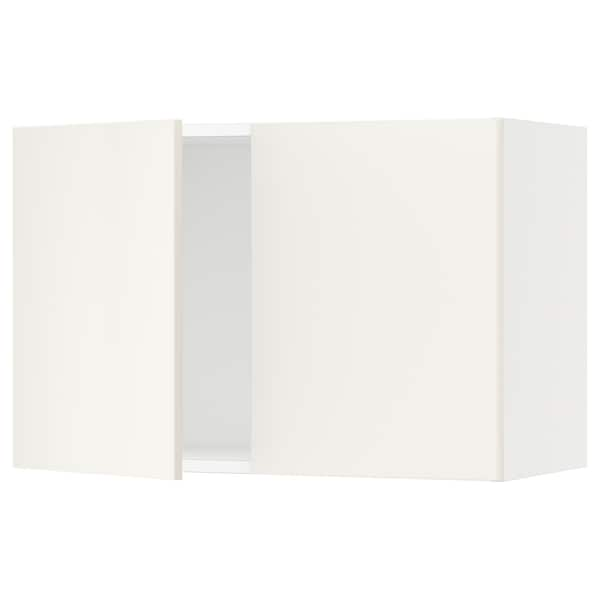 SEKTION Wall cabinet with 2 doors, white/Veddinge white, 76x37x51 cm