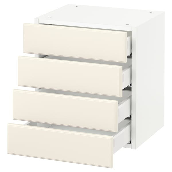 SEKTION Wall cabinet with 4 drawers, white Maximera/Bodbyn off-white, 46x37x51 cm