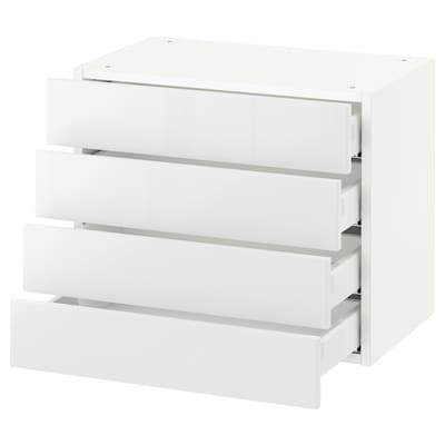 SEKTION Wall cabinet with 4 drawers, white Maximera/Ringhult white, 61x37x51 cm