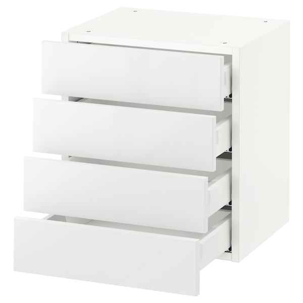 SEKTION Wall cabinet with 4 drawers, white Maximera/Ringhult white, 46x37x51 cm