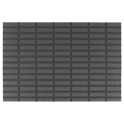 SIVESTED Door mat, dark grey, 60x90 cm