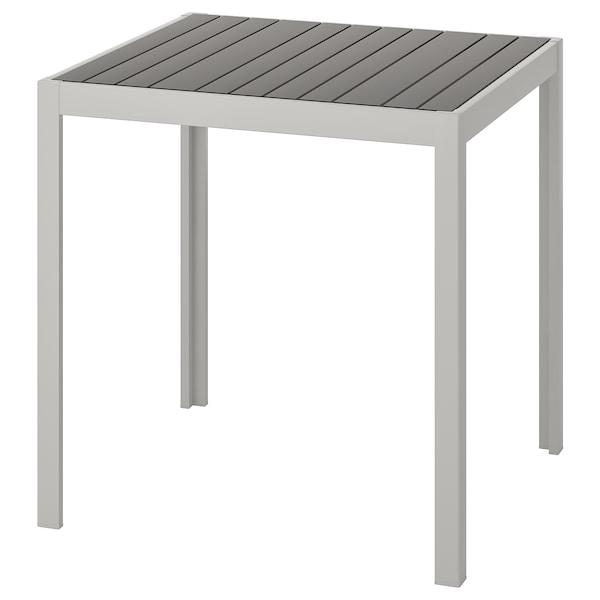 SJÄLLAND Table, outdoor, dark grey/light grey, 71x71x73 cm