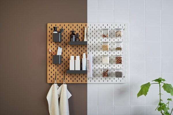 SKÅDIS Pegboard, wood, 36x56 cm