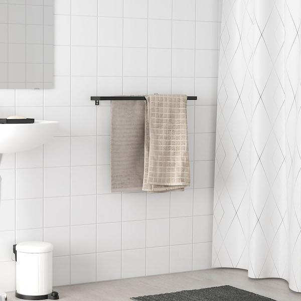 SKOGSVIKEN Towel rail, black, 60 cm