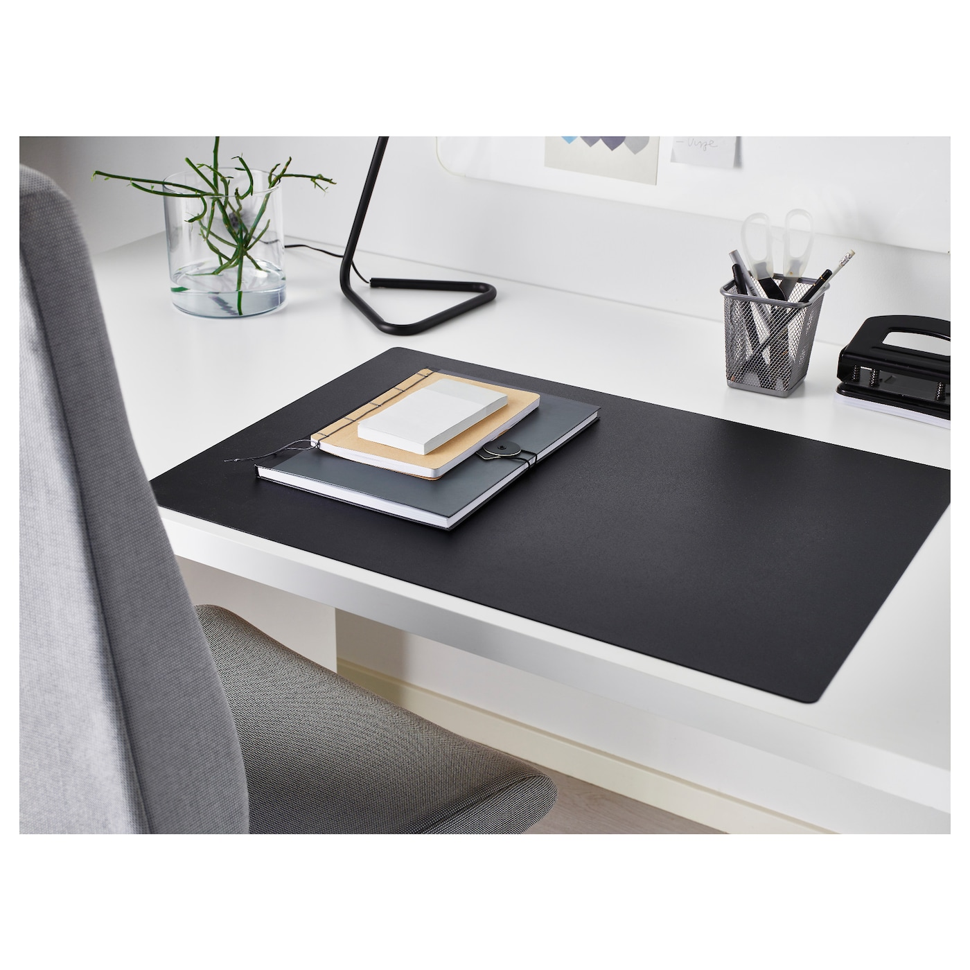 SKRUTT Desk pad, black, 65x45 cm