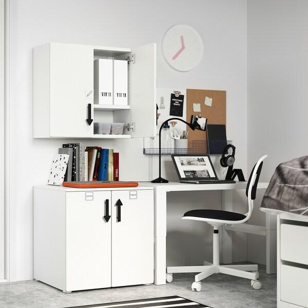 SMÅSTAD Wall cabinet, white grey/with 1 shelf, 60x32x60 cm