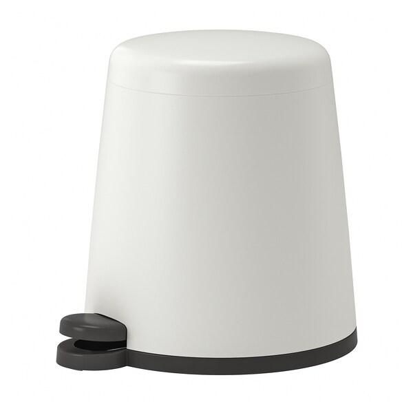 SNÄPP Pedal bin, white, 5 l