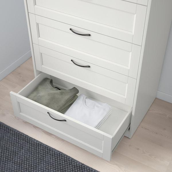 SONGESAND Chest of 6 drawers, white, 82x126 cm