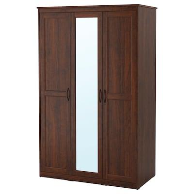 SONGESAND Wardrobe, brown, 120x60x191 cm
