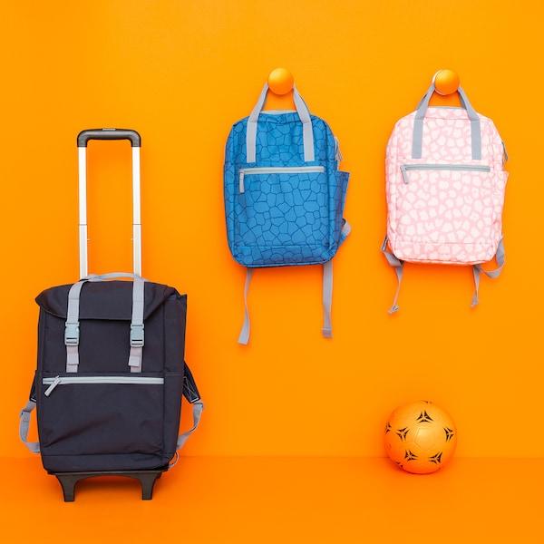 STARTTID Backpack, patterned/pink, 12 l
