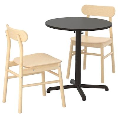 STENSELE / RÖNNINGE Table and 2 chairs, /birch, 70 cm