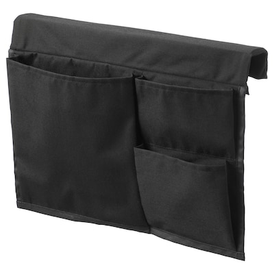STICKAT Bed pocket, black, 39x30 cm