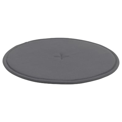 STRÅFLY Chair pad, dark grey, 36 cm