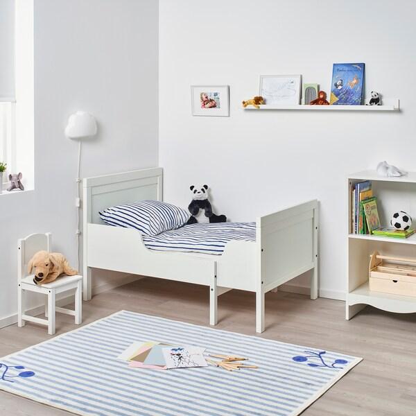 SUNDVIK Extendable bed, white, 97x190 cm