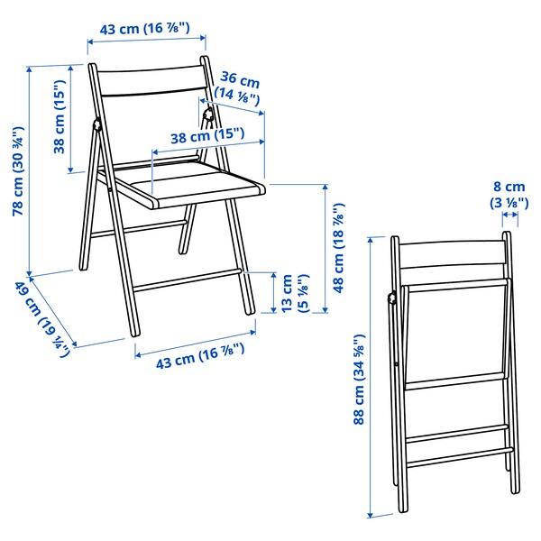 TERJE Folding chair, white/Knisa light grey