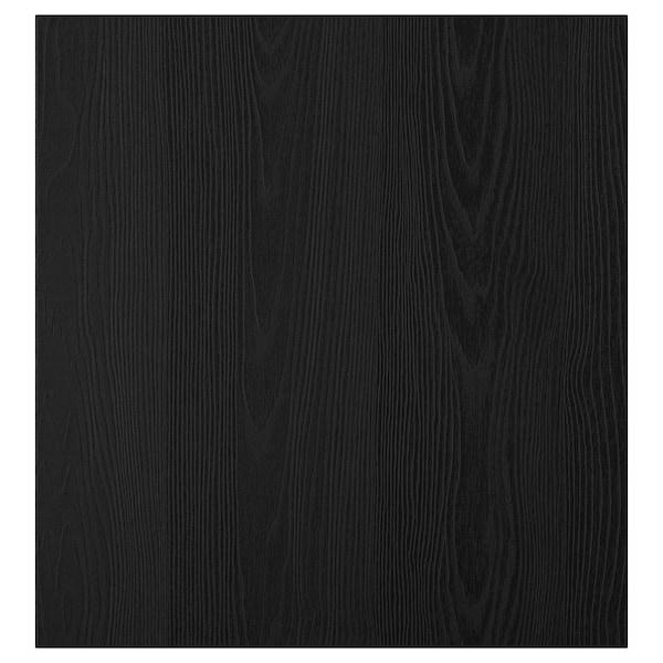 TIMMERVIKEN Door, black, 60x64 cm