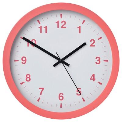 TJALLA Wall clock, pink, 28 cm
