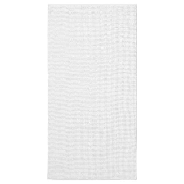 TOFTBO Bath mat, white, 60x120 cm