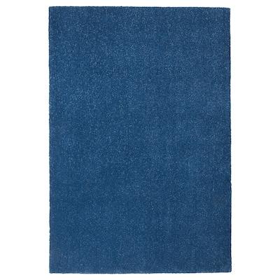 TYVELSE Rug, low pile, dark blue, 133x195 cm