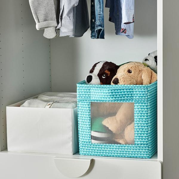 UPPRYMD Box, turquoise, 25x44x25 cm