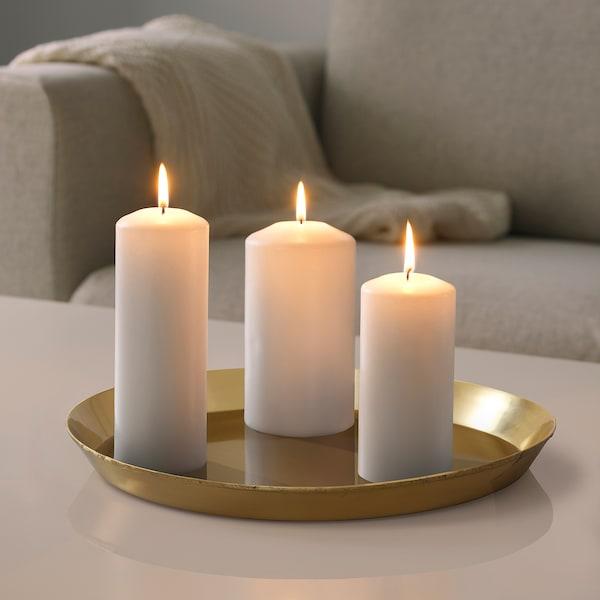 UTVÄNDIG Candle dish, brass-colour, 40 cm