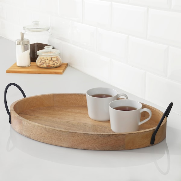 UTVÄNDIG Decoration tray, natural, 50x33 cm