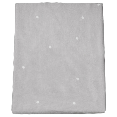 VÄDRA Cover for babycare mat, dotted/grey, 48x74 cm