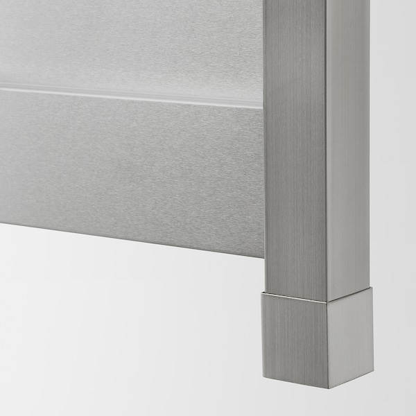 VÅRSTA Cover panel with legs, stainless steel, 39x88 cm