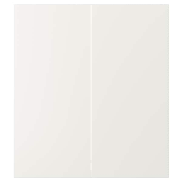 VEDDINGE 2-p door f corner base cabinet set, white, 33x76 cm